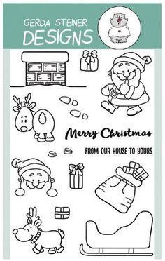Up On the House Top 4x6 Clear Stamp Set