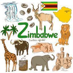 'Z' is for Zimbabwe with this KidsPressMagazine free download! #geography #AfricanCountries #Zimbabwe