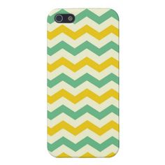 Citrus and Lime Chevron Zigzags Yellow Green iPhone 5 Cases