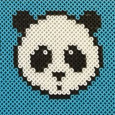 Panda Nabbi perler beads by photopearls Fuse Bead Patterns, Perler Patterns, Beading Patterns, Cross Stitch Patterns, 3d Perler Bead, Pearler Beads, Fuse Beads, Keychain Design, Melting Beads