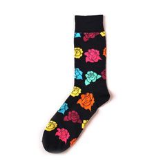 15e92110bec 1 Pairs Fashions Women s Happy Socks 7 Colors High Ankle Love-heart Flower  Patternedintotham