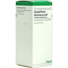 GRAPHITES HOMACCORD Tropfen:   Packungsinhalt: 30 ml Tropfen PZN: 00431728 Hersteller: Biologische Heilmittel Heel GmbH Preis: 6,20 EUR…