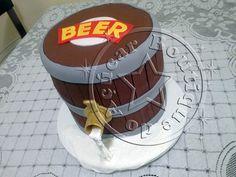 Bolo-Decorado-Barril-de-Cerveja/Beer barrel
