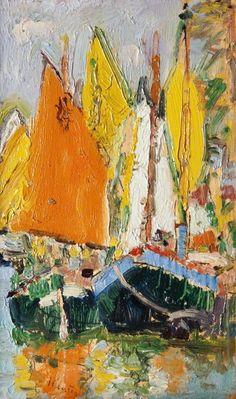 thorsteinulf:    George Leslie Hunter - Sails, Venice (c.1922)