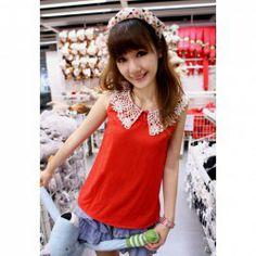 a1d1e643c40  8.89 Women s Chiffon Blouse With Floral Neckline Sleeveless Design Cheap  Blouses