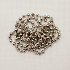 """Ballchain Necklaces 24"""" Length 2.4mm Diameter - 25 Pcs - Silver Tone"""