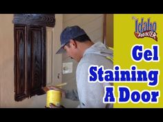 Using gel stains. How to gel stain a fiber glass door to make it look just like it was a wood door. What stain to use, how to apply the gel stain, and what p...