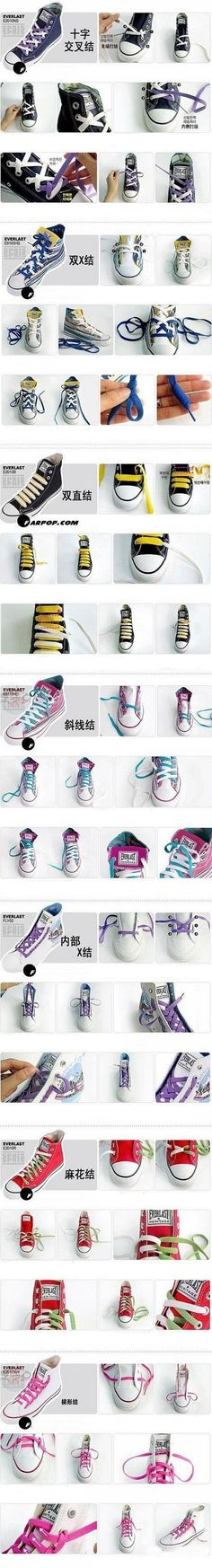 7 Cool Ways To Tie Your Shoe Laces : DIY and Craft Tutorials