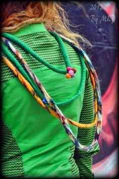 Colorful felt necklaces. photo:https://www.facebook.com/mlp.photoblog