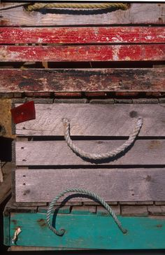 Lobster traps in Rockport, MA.