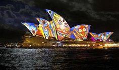 Vivid light festival, Sydney Australia. www.crowdfundmyholiday.com