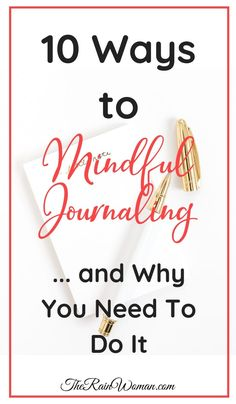 Learn ten ways to Mindful Journaling and why you need to do it. Great in a bullet journal and helps keep you grounded and living in the moment! Mental Health Journal, Mental Health And Wellbeing, Bullet Journal Goal Setting, Meditation, Journal Writing Prompts, Journal Inspiration, Journal Ideas, Self Development, Personal Development