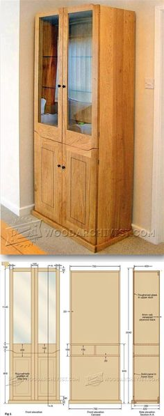 Display Cabinet Plans - Furniture Plans and Projects   WoodArchivist.com