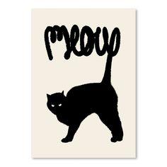 Plakát Meow od Florenta Bodart, 30x42 cm   Bonami