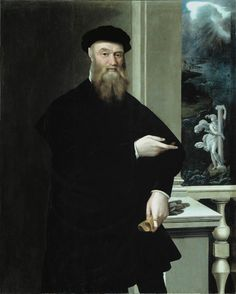 Portrait de Bindo Altoviti (1550) ~ by Jacopino del Conte (Italian, 1510-1598) ~ Jacopino del Conte was an Italian Mannerist painter, active in both Rome and Florence. Bindo Altoviti (1491-1556) powerful banker to the papacy, patron and collector of works of art and, at the end of his life, proud opponent to the principality of Cosimo I de' Medici, in the name of his republican ideas.