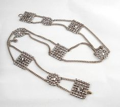 Cut Steel Buckle Belt Chain Victorian by vgvintage on Etsy, $245.00