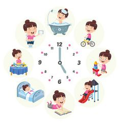 Vector Illustration Of Kids Daily Routine Activities Cartoon Heart, Cartoon Monkey, Coral Colour Palette, Hand Washing Poster, Daily Routine Activities, Routine Chart, Books To Read For Women, Morning Cartoon, Licence Lea