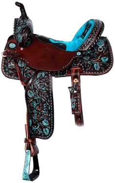 Totally want this for my horse! (gonna get one soon)Double J Saddlery Saddle. Horse Gear, My Horse, Horse Love, Horse Tips, Barrel Racing Saddles, Barrel Saddle, Barrel Horse, Roping Saddles, Barrel Racing Horses