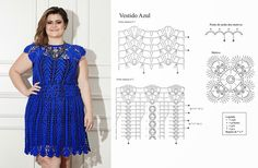 A Mini dress or a Tunic to crochet. With its diagrams here