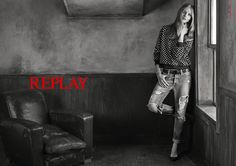 For the #REPLAYss15 has young Italian fashion photographer Giampaolo Sgura capture the ad image. Russian model Anna Selezneva portrays the Replay woman by giving femininity a slick contemporary slant. For more: www.replay.it