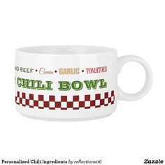 Personalized Chili Ingredients Bowl