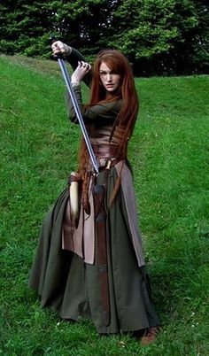 LARP fighter Wedding Music: Areas And Options There will be music played throughout the day at your Medieval Dress, Medieval Clothing, Medieval Fantasy, Viking Dress, Vikings, Larp, Cosplay, Viking Woman, Viking Art