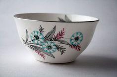 Windsor Sugar Bowl English Tea China Floral by gardenfullofVintage