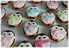 Penguin cookies~                             by utterly charming, black and white