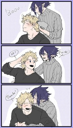 Mirio Togata x Tamaki Amajiki / Boku no Hero Academia My Hero Academia Memes, Hero Academia Characters, My Hero Academia Manga, Buko No Hero Academia, Me Me Me Anime, Anime Guys, Big Three, Animes Wallpapers, Cute Gay