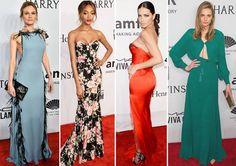 Meus looks favoritos do amfAR New York Gala 2016! Destacaram-se a linda Diane Kruger, com um sofisticado vestido azul, de plumas. E a maravilhosa Jourdan Dunn, vestida de floral.