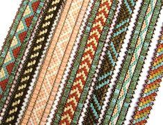 Tila Medley Bands beaded pattern tutorial by Deb Roberti | Etsy
