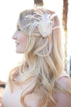 Kleine Braut Fascinator, Ivory Braut Haar Stück, Vintage-Stil Gatsby Toupet, Hochzeit Braut Toupet, Brautjungfer Toupet