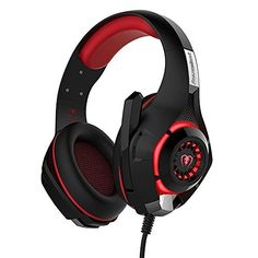 Gaming Headphones Headset for Video Games PSP Xbox One Controller PC Tablet iPhone iPad Samsung Smartphone, Stereo LED Light Over Ear Noise Cancelling Headphone with Mic Microphone Ps4 Gaming Headset, Gaming Headphones, Headphones With Microphone, Pc Ps4, Headphone With Mic, Noise Cancelling Headphones, Over Ear Headphones, Playstation Games, Games