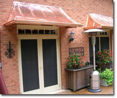 Concave Awning Copper With Lazy Scrolls By