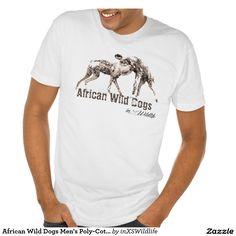 African Wild Dogs Men's Poly-Cotton Blend T-Shirt