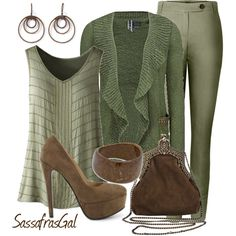 """Sage & Sable"" by sassafrasgal on Polyvore"