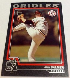 2004 Topps Jim Palmer Black Border MLB Baltimore Orioles Baseball 42/99
