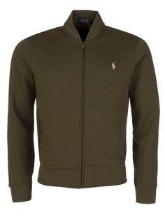 Polo Ralph Lauren Olive Zip Up Bomber Tracksuit Jacket