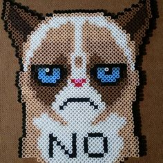 Grumpy Cat perler beads by thebarmie