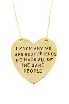Best Friends vs Frenemies Necklace