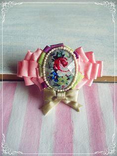"Romantic brooch - Floral brooch - Flower cameo brooch - Marie Antoinette inspired - ""Marie"" brooch"
