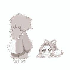 Demon Slayer: Kimetsu no Yaiba, Giyu/Shinobu, Shinobu Kochou / - pixiv Anime Chibi, Kawaii Anime, Manga Anime, Anime Angel, Anime Demon, Demon Slayer, Slayer Anime, Spoiler Alert, Demon Hunter