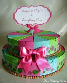 Sugar and Spice Favor Box Cake Please Contact Me by FavorCakes