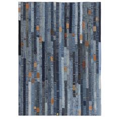 Briarhill Jeans Waistband Patchwork Handmade Kilim Cotton Blue Rug Williston Forge Rug Size: Rectangle 160 x Patchwork Jeans, Patchwork Rugs, Neutral Color Scheme, 230, Love Your Home, Outdoor Garden Furniture, Color Azul, Modern Rugs, Wood Colors