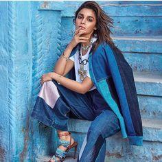 Bolywood actress Alia Bhatt in Denim shoot
