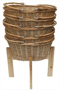 They are made from natural wood, coated lightly with a little oil to avoid those pesky finger marks and ensuring you have a wipe-clean service. You won't need any tools to set this stand up! They are made with beautiful quality wicker and stack neatly inside each other.   eBay!