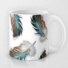 Duck Feathers Mug by Jody Edwards Art - $15.00
