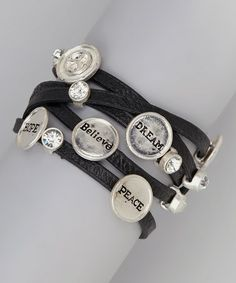 Look what I found on #zulily! Silver Shimmer Peace Wrap Bracelet #zulilyfinds
