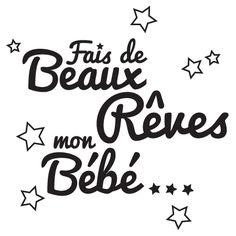 citations scrapbooking | Stickers CITATION Rêve Bébé