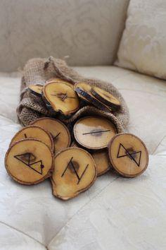 Pine Rune Set  Woodburned Symbols by FairyFresh on Etsy, $25.00